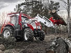 Steyr 6165 CVT frontloader 30sz forestry