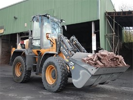 CASE Construction Equipment 521F XT wheel loader in waste configuration format