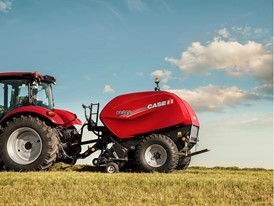 Case IH RB Fixed Chamber Round Baler 545 in the Field