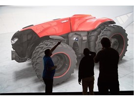Virtual reality 3D modeling of the Case IH Magnum Autonomous Concept Tractor