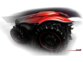 Final design sketch of the Case IH Magnum Autonomous Concept Tractor - Rear View