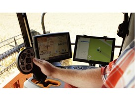 The portable tablet interface can be installed in a traditional machine whose operator can supervise autonomous machines