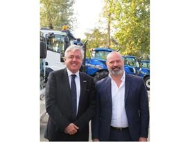 President Stefano Bonaccini (right) with New Holland Agriculture Brand President Carlo Lambro