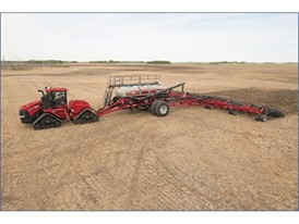 The new Case IH Precision Air™ 4585 air cart features a four-tank design with a total capacity of 580 bushels.