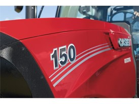 The redesigned hood of the new Maxxum line