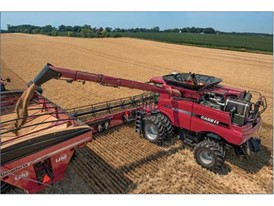 Case IH Axial-Flow 230 series combines boast larger grain tanks and faster unloading speeds.