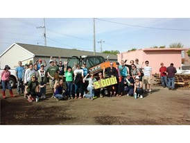 CASE donated a skid steer to the 8th Annual Victory Garden Blitz, located in the Greater Milwaukee area