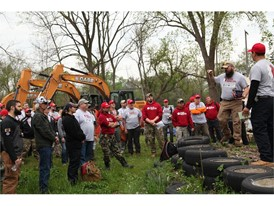 The work, performed in conjunction with Motor City Blight Busters