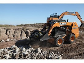 CASE provided six machines to the effort – three full-sized excavators and three skid steers