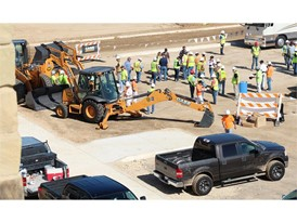 Kip Moore, CASE Construction Equipment and ASCO Equipment, brought an army of food trucks to a constuction site