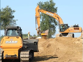 The 2050M Dozer and CX350C Excavator on the KO Pipeline Project