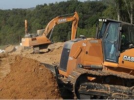Project featured two of CASE's flagship machines for the oil and gas market: the CX350D excavator and 2050M Dozer.