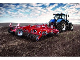 New Holland Tractor with tillage implement