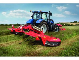 New Holland Tractor with a butterfly mower
