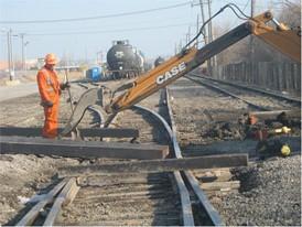 CASE Railway Backhoe
