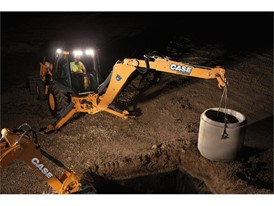 Backhoes can make money at night just as well as they can during the day