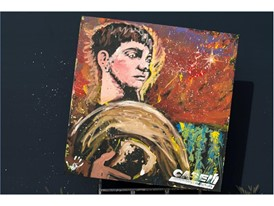Case IH hopes to raise funds to benefit FFA by auctioning off four numbered paintings by speed painter Dan Dunn