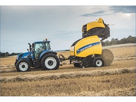 New Holland's upgraded Roll-Belt variable chamber balers at work