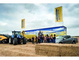 The New Holland Team celebrate a successful BigBaler endurance challenge
