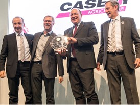 Case IH accepts the 2017 Tractor of the Year award for the Case IH OPTUM 300 CVX