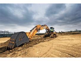 CX350C excavator trenching