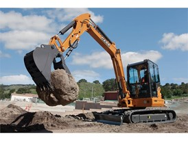 Compact Excavator in action