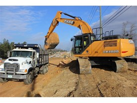 New CASE CX300D Digs Into Road Widening Project for Reeves Construction