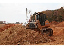 Site development earthmover finds right match of bulldozing size & power