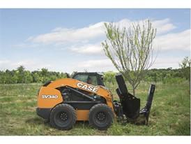 SV340 working a a nursery planting a tree