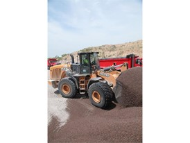 CASE 1021F Carries Heavy Load at Granite Pit for Largest Chip Seal Contractor in Wisconsin