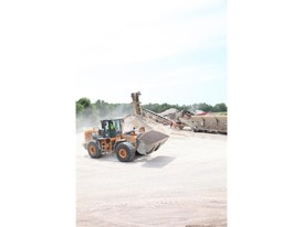 Scott Construction uses both a CASE 721F wheel loader and a CASE 821E wheel loader in the crushing stages of production.