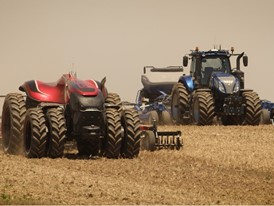 The autonomous tractor concept from CNH Industrial brand Case IH and New Holland Agriculture