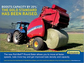The new Roll-Belt Round Baler allows you to get improved bale density and capacity