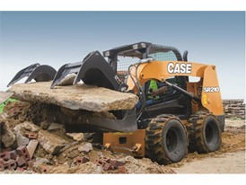 CASE Construction SR210 skid steer loader with the new livery