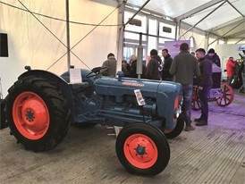 100 years of tractor production celebrated with vintage and modern tractors on New Holland's LAMMA stand