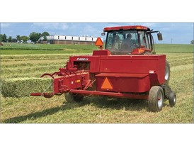 Case IH Small Square Baler baling hay
