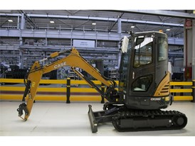 The construction of the new range mini-excavators at the San Maura Manufacturing Plant