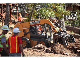 CASE and Sonsray Machinery provide heavy equipment for use in a land-clearing project at the San Jose Family Camp