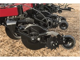 The enhanced row unit found on the Nutri-Placer 930 fertilizer applicator with new High-speed Low Disturbance (HSLD)