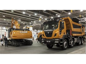 On the Iveco stand visitors will see a versatile Iveco Daily van and a CASE CX26C mini excavator