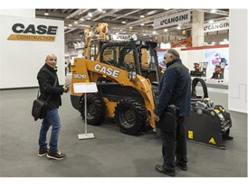 Case SR210 Skid Steer Loader at its stand at Samoter 2017