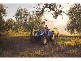 New Holland TD4F working with a towed implement
