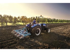 The New Holland TD4F conducting cultivating activities
