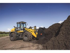 The New Holland Construction Wheel Loader is perfect for moving materials around the farm efficiently