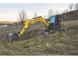 The latest mini-excavator is perfect for agricultural applications