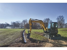 The latest New Holland Construction mini-excavator is perfect for on-farm ditching work