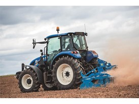 The T5 tractor undertaking tillage activities