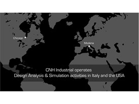 CNH Industrial operates Design Analysis & Simulation activities in Italy and the USA