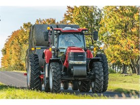 Case IH Puma 240 transporting bales