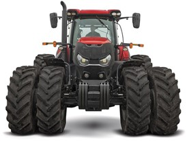Case IH Optum tractor on duals